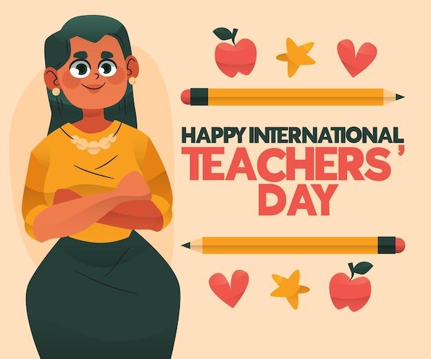 Narysowany dzień nauczyciela