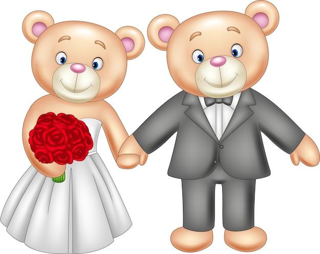 Narzeczeni teddy bear ślub