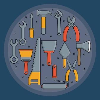 Narzędzia do naprawy w kształcie koła