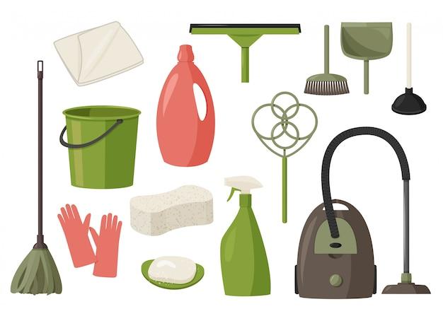 Narzędzia do sprzątania w domu.