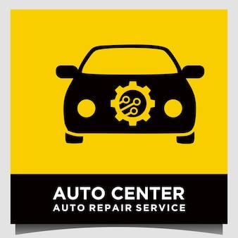 Narzędzia narzędziowe i wektor projektowania logo usługi naprawy samochodów