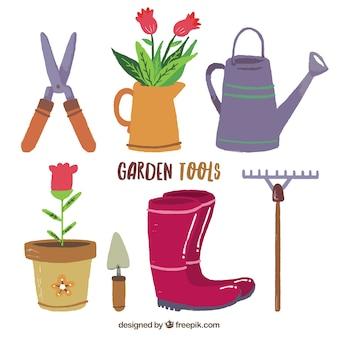Narzędzia ogrodowe flat design