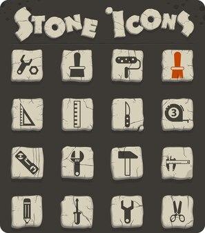 Narzędzia pracy wektorowe ikony do projektowania sieci i interfejsu użytkownika