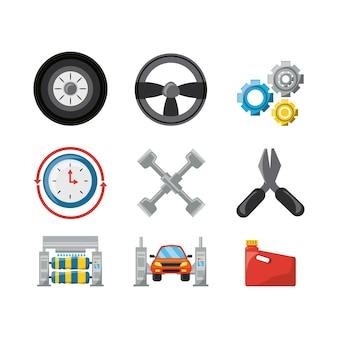 Narzędzia Serwisu Samochodowego I Naprawy Maszyn Premium Wektorów