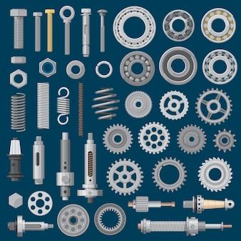 Narzędzia sprzętowe,. metalowe części mechaniczne i elementy złączne