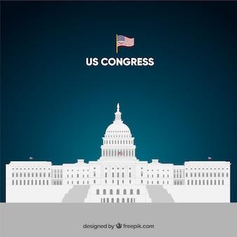 Nas kongresowy budynek o płaskiej konstrukcji