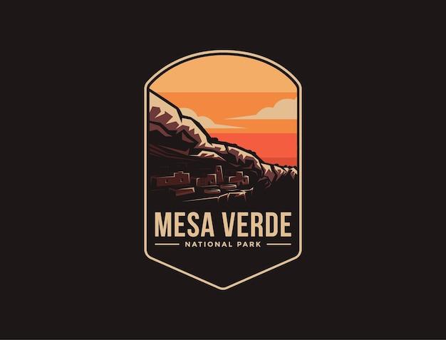 Naszywka z emblematem logo parku narodowego mesa verde