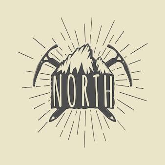 Naszywka z logo przygody lub sportu w stylu vintage, godło z hasłem motywacji. ilustracja