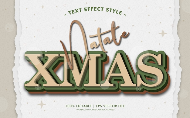 Natale xmas tekst efekty styl