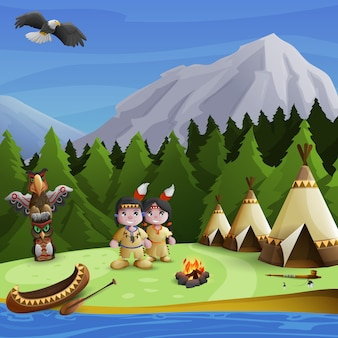 Native american background concept