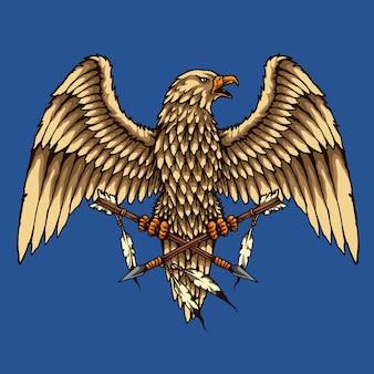 Native american eagle ornament