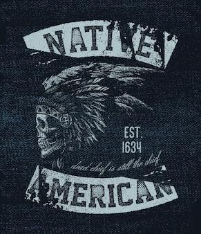 Native american. ilustracji wektorowych.