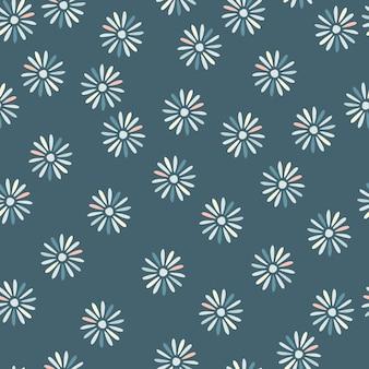 Natura bezszwowe doodle wzór z abstrakcyjnym ornamentem kwiatów stokrotek