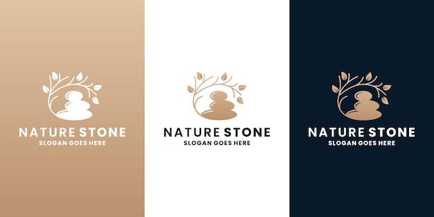 Natura kamienie projektowanie logo spa medytacja