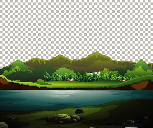 Natura na zewnątrz krajobraz na przezroczystym