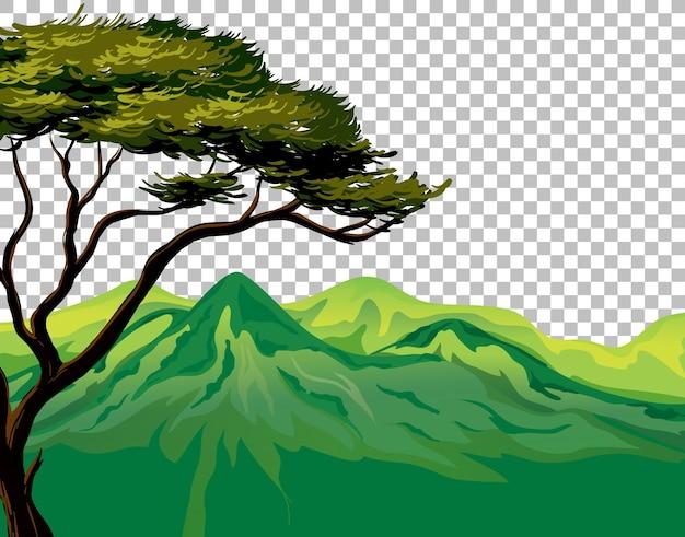 Natura na zewnątrz krajobraz przezroczyste tło
