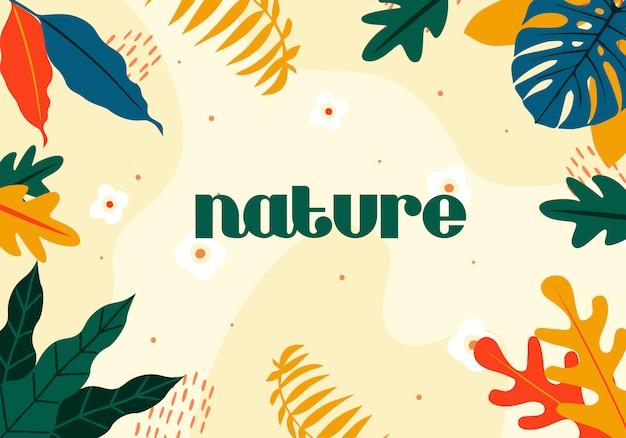 Natura streszczenie tło