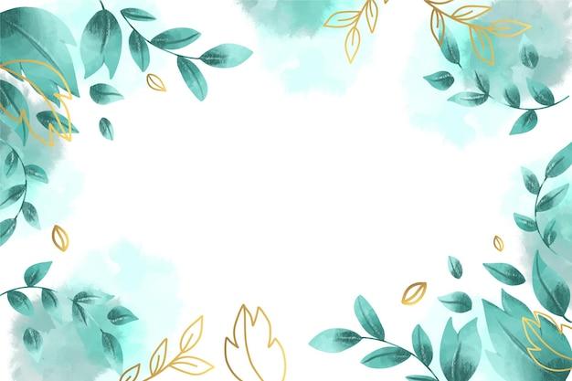Natura tło z złotą folią