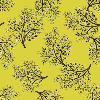 Natura wzór z losowymi kształtami drzew leśnych.