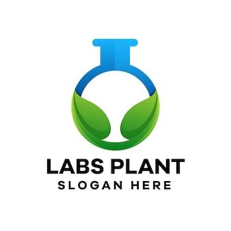 Natural labs gradient logo design