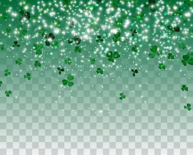 Naturalistyczne zielone tło koniczyny