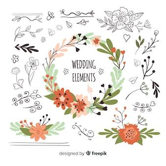 Naturalna kolekcja elementów ślubnych