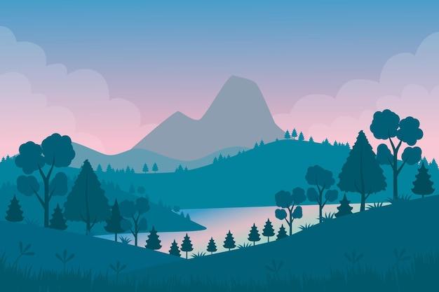 Naturalna tapeta krajobrazowa do wideokonferencji
