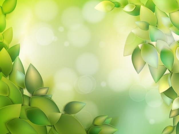 Naturalna zieleń z selektywną ostrością.