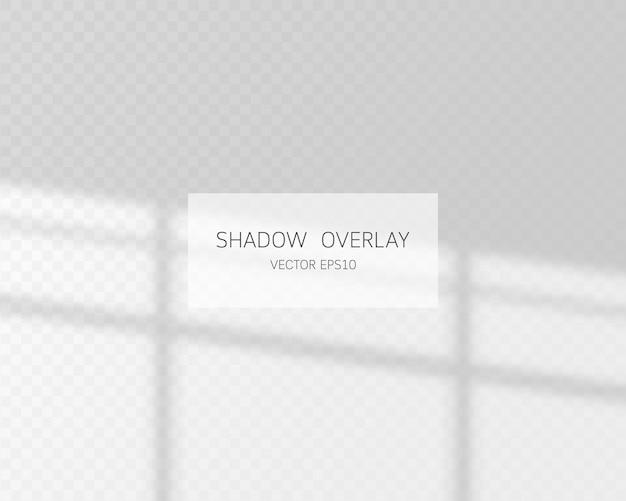 Naturalne cienie z okna na przezroczystym tle.