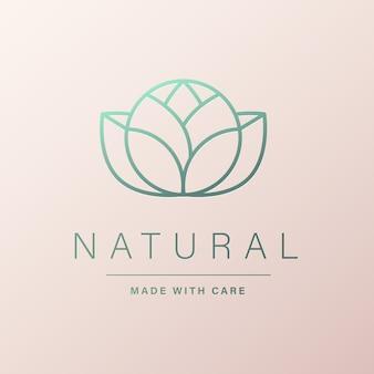 Naturalne logo dla brandingu i identyfikacji wizualnej