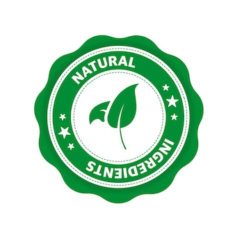 Naturalne składniki świetny design do dowolnych celów ikona liścia produkt naturalny