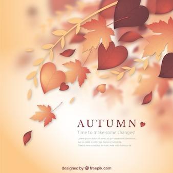 Naturalne tło jesienią