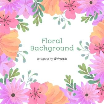 Naturalne tło z akwarela kwiaty
