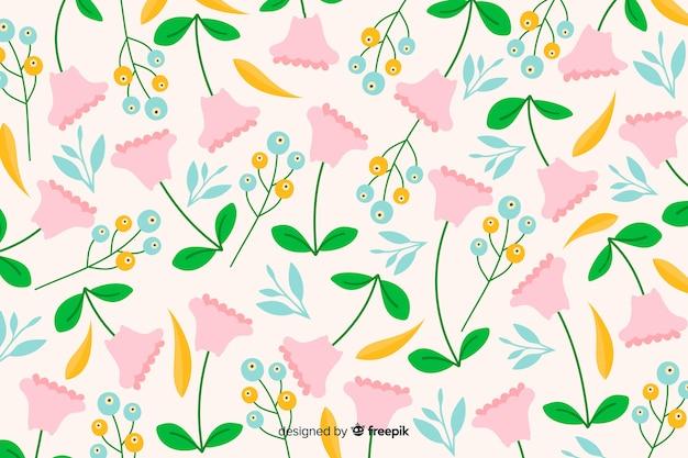 Naturalne tło z płaskich kwiatów