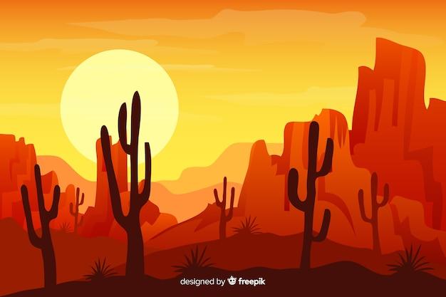 Naturalne tło z pustynnym krajobrazem