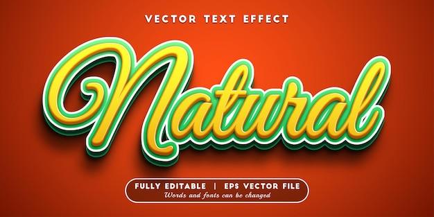 Naturalny efekt tekstu z edytowalnym stylem tekstu