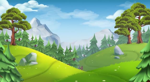 Naturalny krajobraz z drzewami