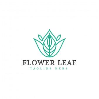 Naturalny liść logo szablon wektor wzór