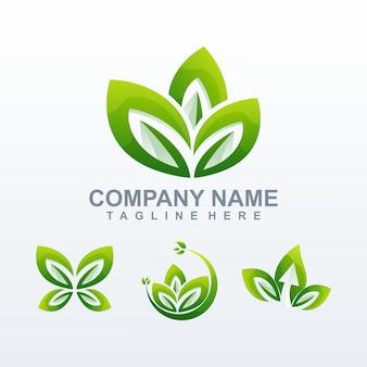 Naturalny logo wektor, szablon, ilustracja