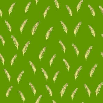 Naturalny organiczny wzór z losowymi sylwetkami trochę rozmarynu. zielone tło.