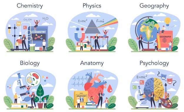 Naturalny przedmiot szkolny lub zestaw zajęć edukacyjnych. studiujący student