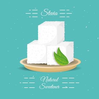 Naturalny słodzik stevia z liśćmi