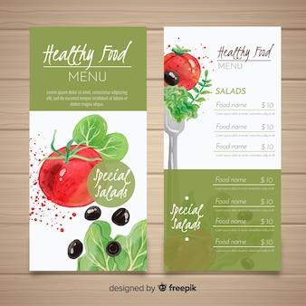Naturalny szablon menu żywności