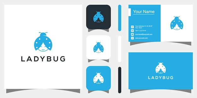 Naturalny wektor projekt logo wektor chrząszcza premium wektorów