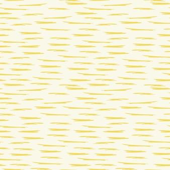 Naturalny wzór streszczenie poziome żółte linie białe tło rysunek odręczny
