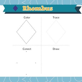 Naucz się kształtów i figur geometrycznych arkusz przedszkolny lub przedszkolny