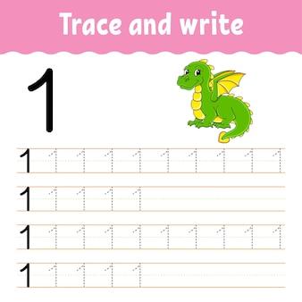 Naucz się numbers trace i pisz ćwiczenie pisma ręcznego