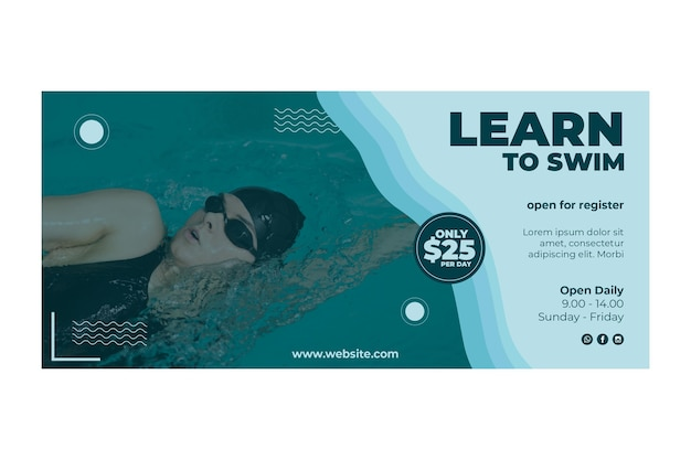 Naucz się pływać projekt transparentu