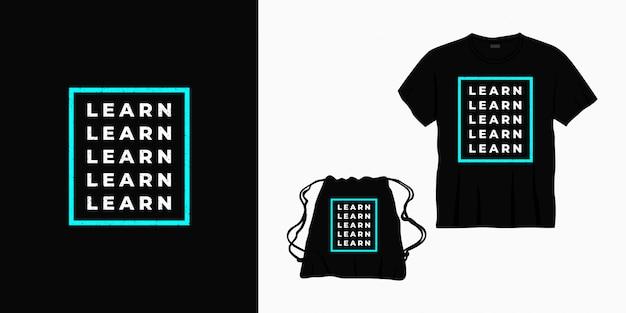 Naucz się projektowania liternictwa typografii dla koszulki, torby lub towaru