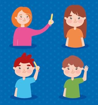 Nauczyciel i dzieci